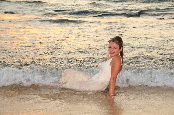 Bride in Ocean